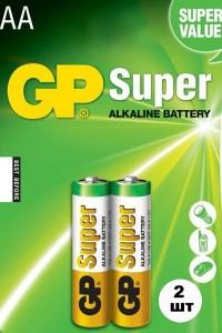 Батарейки GP Super LR06 пальчиковые АА 2 шт