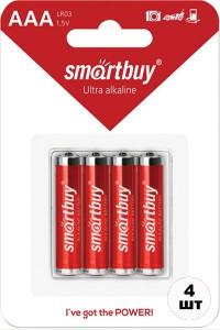 Батарейки SMARTBUY LR03 мизинчиковые ААА 4 шт