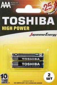 Батарейки TOSHIBA Alkaline LR03 мизинчиковые ААА 2 шт
