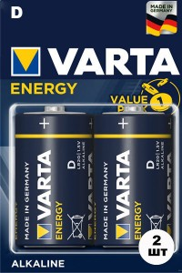 Батарейки VARTA Energy LR20  2 шт