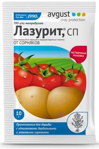 Лазурит - незаменимое средство в борьбе с сорняками на картофеле, 10 г
