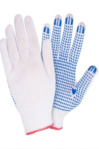 Перчатки вязаные х/б с ПВХ покрытием